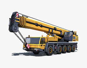 Mobile Crane 3D model game-ready