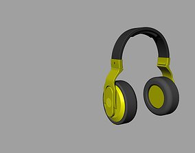 Black and yellow beats headphones 3D print model