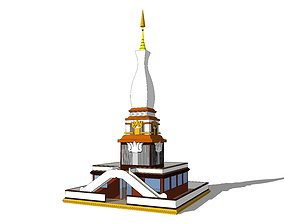 3D Buddha Pagoda