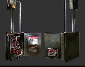 Electrical Box Game Ready 3D asset PBR