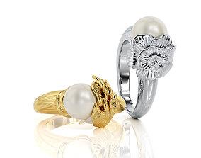 3D print model Pearl Ring R 0079