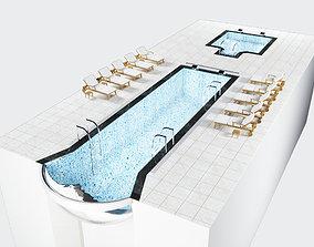 3D asset Glass bottom swimming pool GOGGLE