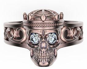 Ring Crowned Skull 3D print model