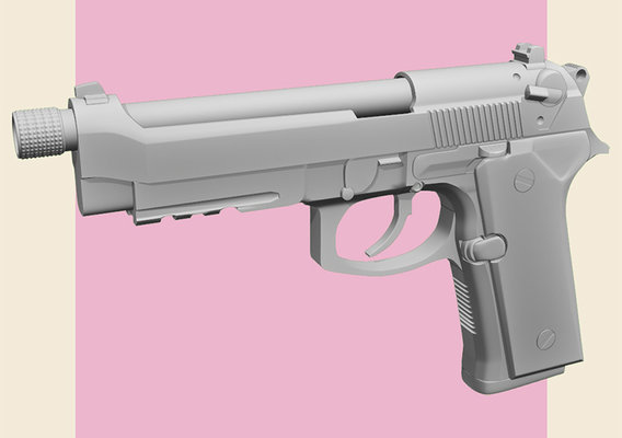 [WIP] Beretta M9 - High Poly
