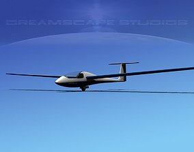 3D asset low-poly Venture Sailplane