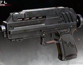 DC17L Blaster Pistol 3D printable model