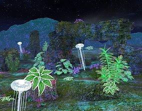 3D model magic bottom of the sea