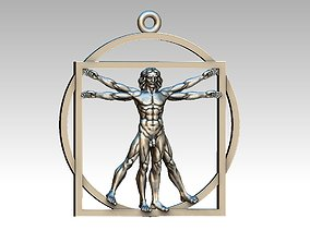 Vitruvian Man pendant 3d model