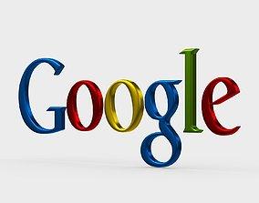 3D model google logo tv
