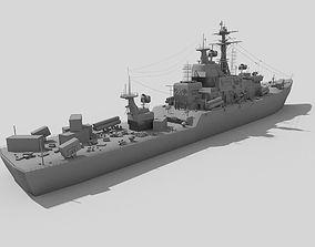 destroyer ship 3D model
