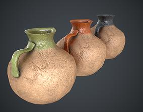 3D asset Vase Old Painted