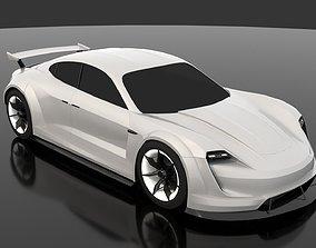 3D Porsche Mission-e Taycan Bodykit V2