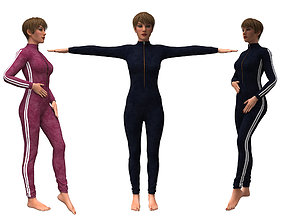 3d realistic womans clothing sweatshirt rigged