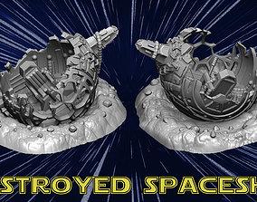3D print model destroyed spaceship