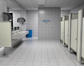 3D model Classic Public Bathroom