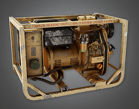 3D asset Military Mini Gas Generator - PBR Game Ready