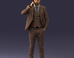 Man in checkered suit 0220 3D Print Ready