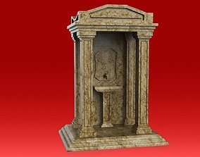 3D asset low-poly Old Style Fountain