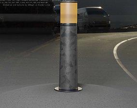 Galvanized Light-Column -10- Street-Light 9 3D model