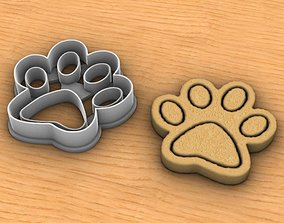 3D printable model Paw cookie cutter