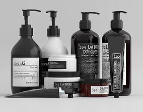 3D asset L-A Bruket Bathroom Cosmetics Set