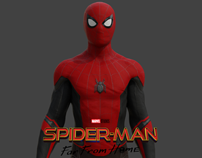 rigged Spider-man Far from home 3D Model Rigged and 3D 1