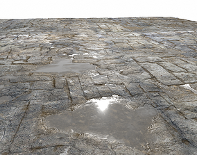 3D Old Floor Seamless PBR Texture