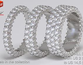 Infinity diamond ring Pack 3D print model femalering