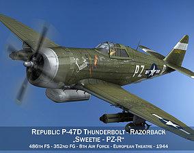 3D model Republic P-47D Thunderbolt - Sweetie - PZ-R