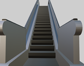 escalator 3D model for game developing