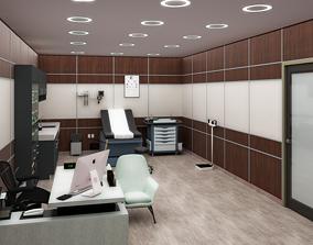 Clinic interior 3d model clinic