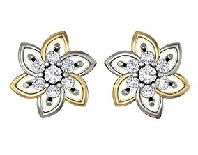 Ladies Earrings Tops 3D print model jewellery diamond