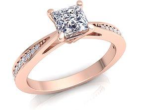 Woman Diamond Ring 3d Model print engagem engagement