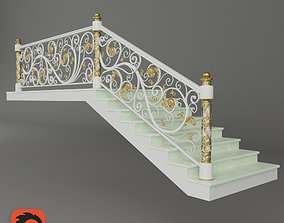 Forged stairs 3D model