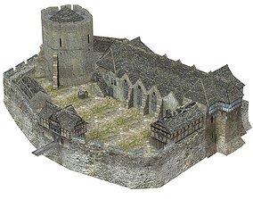 3D model Fortified Manor in obj format