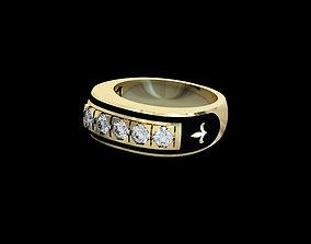 3D printable model Men Ring 002 diamond