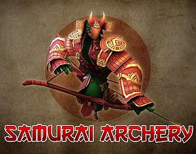 Samurai Archery 3D asset