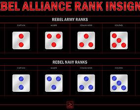 Star Wars Rebel rank insignias 3D printable model