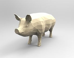 Pig 3D printable low-poly
