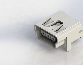 3D print model MiniUSB Tipe B