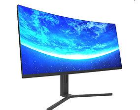 Monitor Xiaomi Mi Surface Display 34 3D model