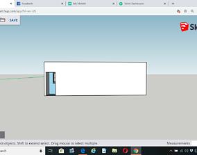 3D print model 100 Sq meter House Plan