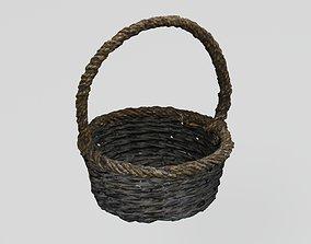 3D model Wicker Basket two-tone dark photogrammetry scan 2