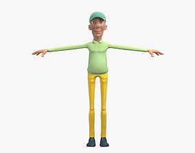 Golfer Character 3D Model no Rig VR / AR ready