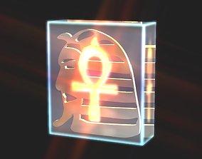 3D asset Pharaoh head treasure decor
