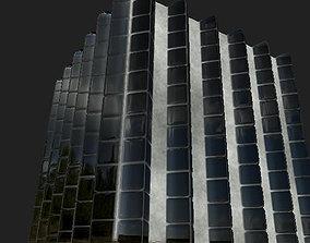 Ultra Low-Res Urban Building Facade Pack 256x256 3D asset