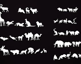 Animal silhouettes 3D printable model