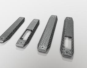 Railscales XOS MLOK Grip Panels 3D asset realtime
