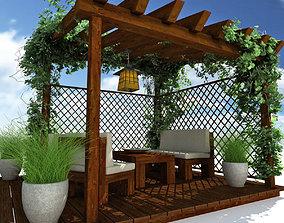 Pergola Garden 3D
