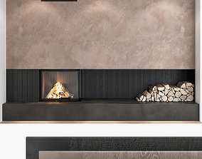 3D Fireplace and Firewood set 06